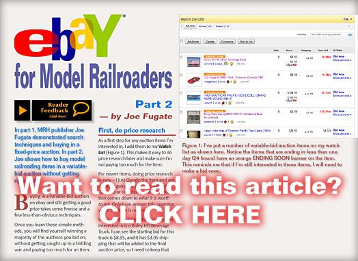Ebay For Model Railroaders Auction Strategies Model Railroad Hobbyist Magazine