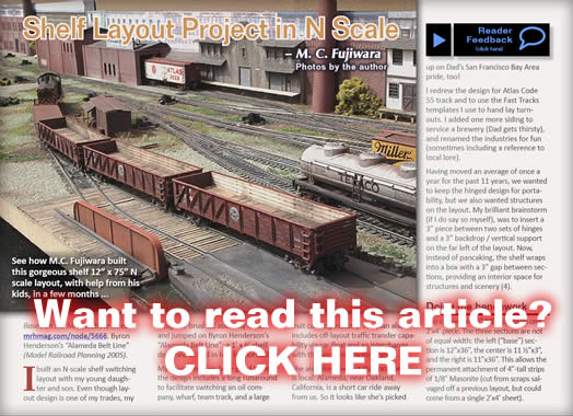 Shelf layout project in n scale model trains mrh article november