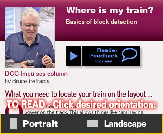 DCC Impulses: Where is my train? | Model Railroad Hobbyist
