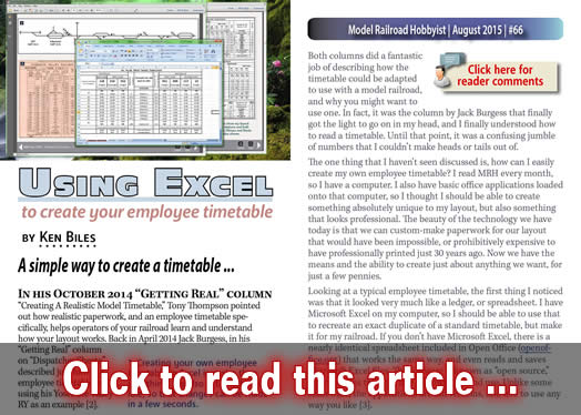 using excel to create your employee timetable model trains mrh article august 2015