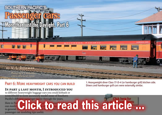 southern pacific 39 s passenger cars part 6 model railroad hobbyist magazine. Black Bedroom Furniture Sets. Home Design Ideas