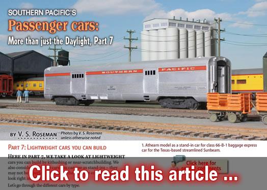 southern pacific 39 s passenger cars part 7 model railroad hobbyist magazine. Black Bedroom Furniture Sets. Home Design Ideas