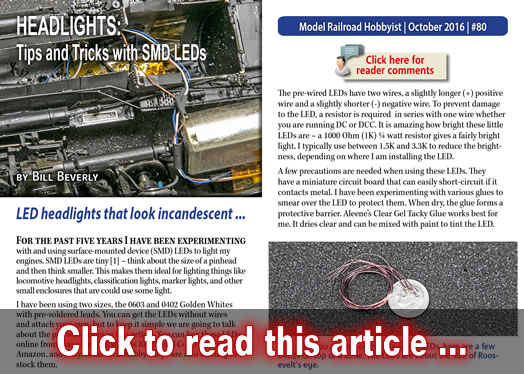 Tricks With Smd Led Headlights Model Railroad Hobbyist Magazine