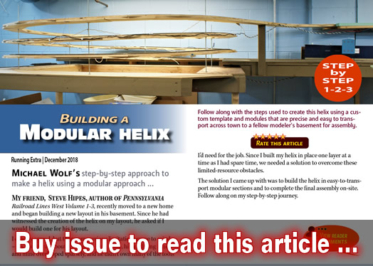 Building a modular helix | Model Railroad Hobbyist magazine