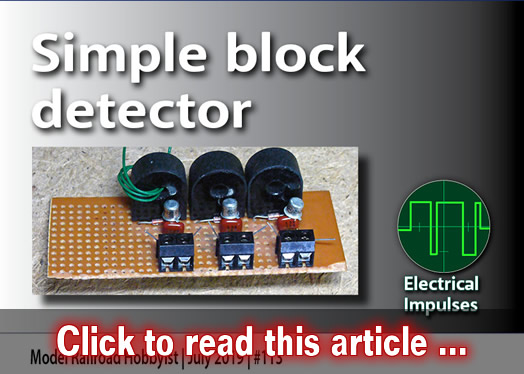 Electrical Impulses: Simple block detector | Model Railroad