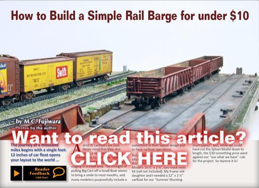 Build a railcar barge | Model Railroad Hobbyist magazine