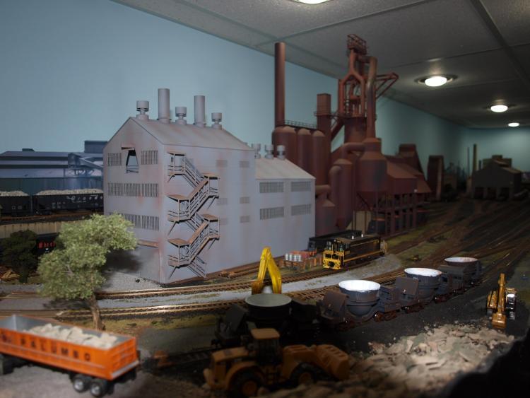 steel mill part  model railroad hobbyist magazine