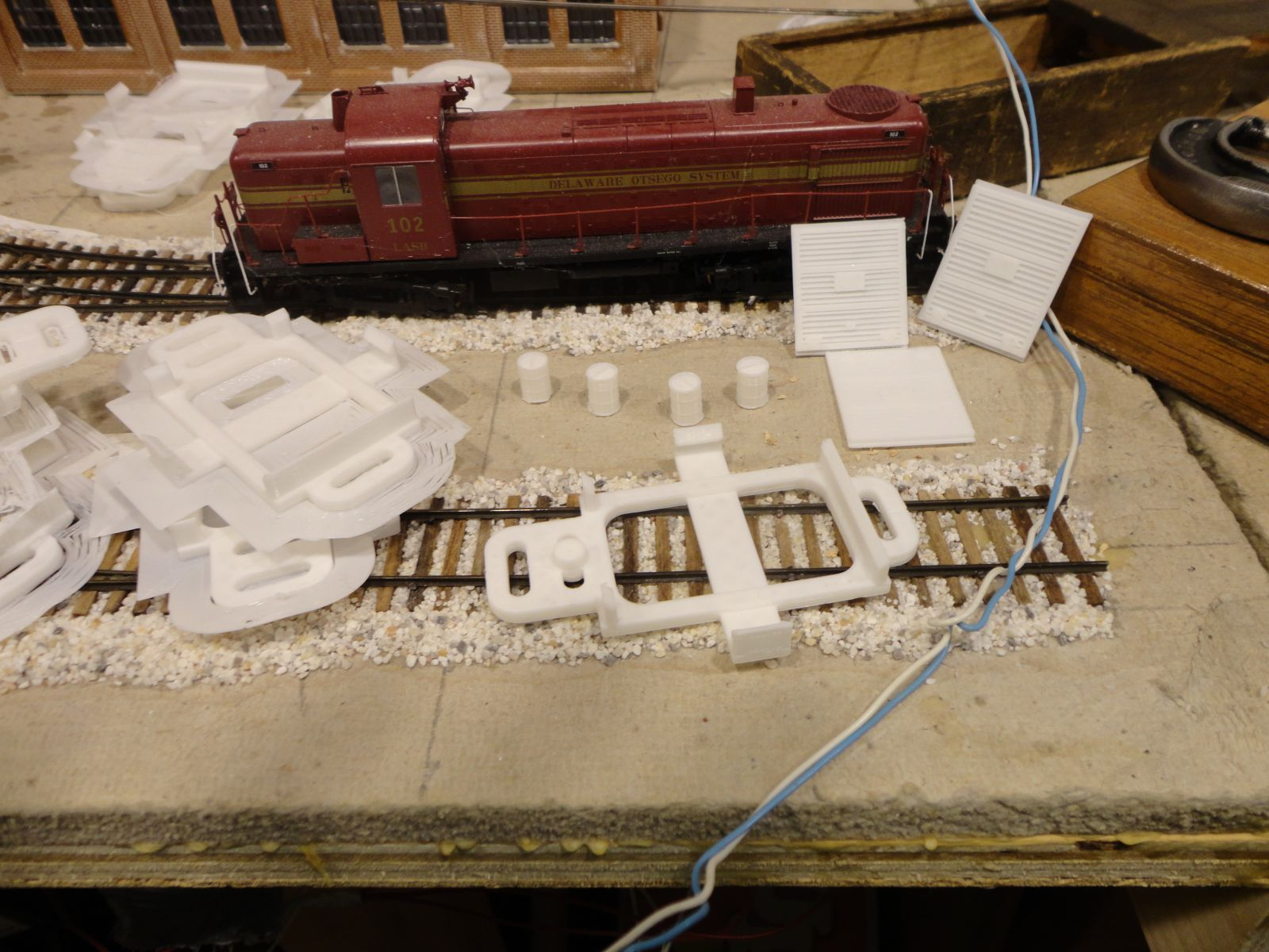 picture relating to Printable Model Railroad Buildings identify 3D Posted Producing Interiors Fashion Railroad Hobbyist journal