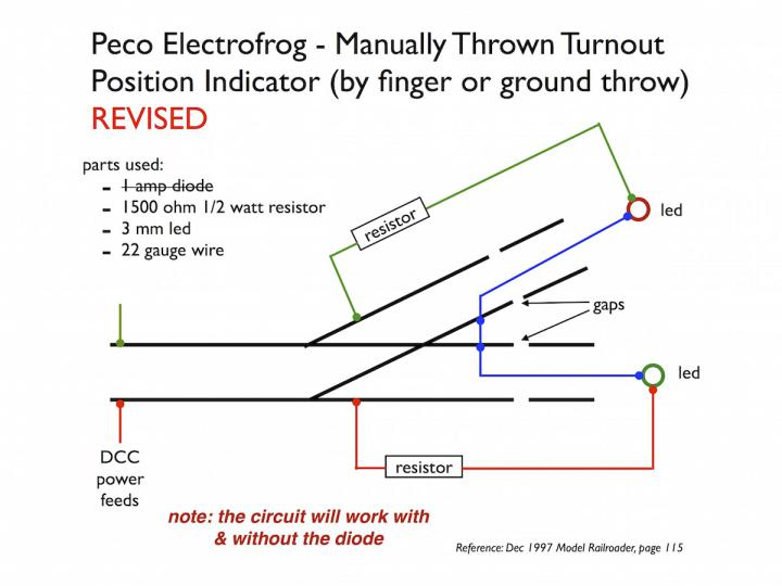 DCC Electrical Fun - Position Indicator for Peco Electrofrog ...